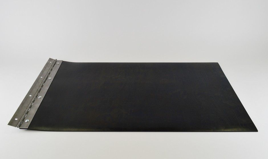 Rubber Baffle With Hinge And Hardware For 15 X 18 Trash