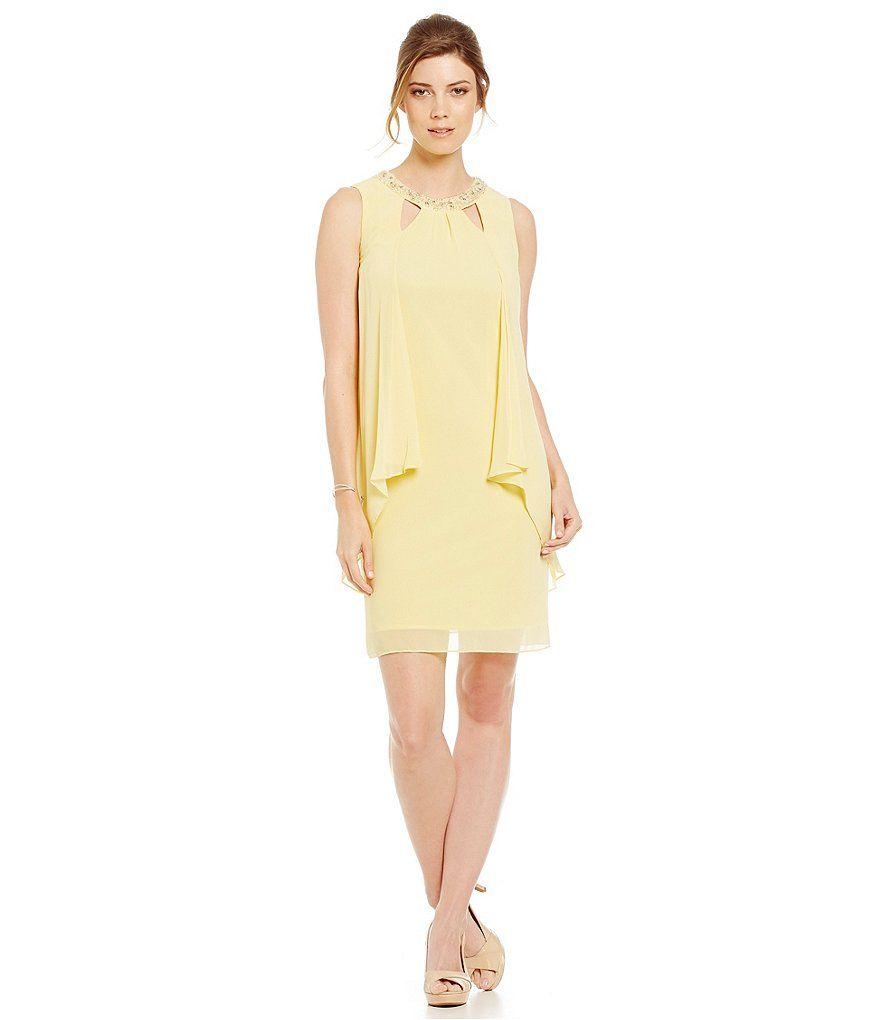 Sl sl fashion dresses - Banana S L Fashions Cutout Bead Neck Sheath Dress
