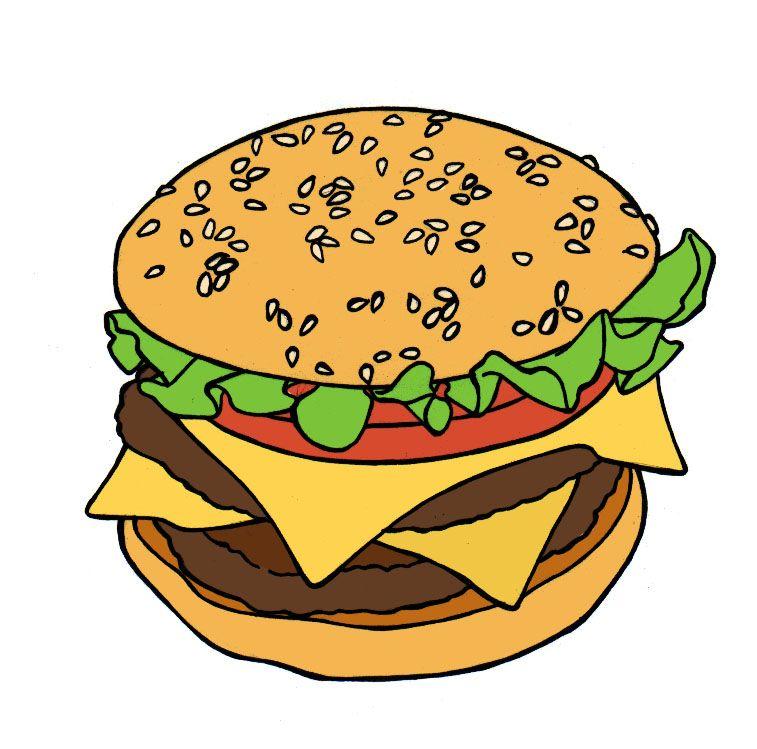 Hamburger Tekening Google Zoeken Tekenen Hamburgers