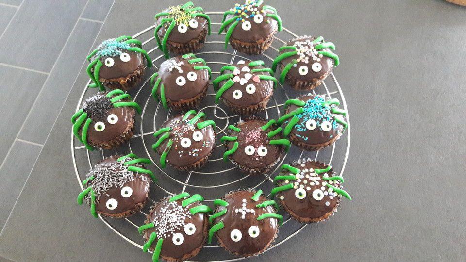 Spinnenmuffins für Halloween Rezept Halloween essen