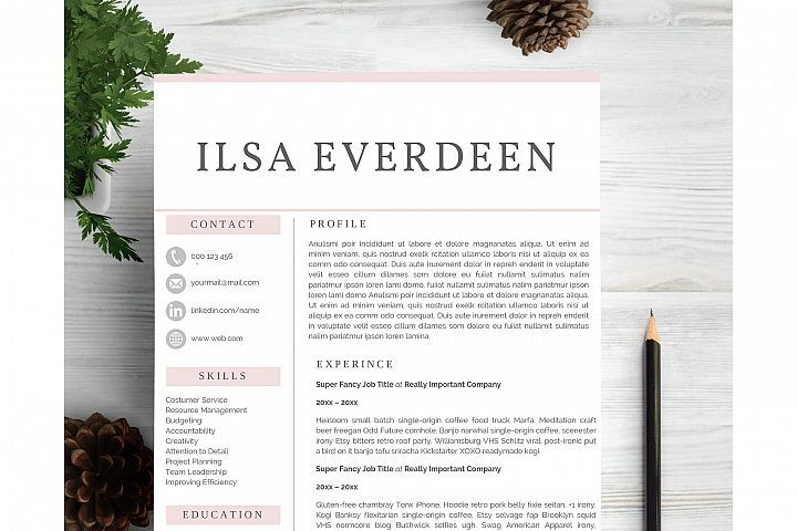 Creative Professional Resume Template From DesignbundlesNet  New