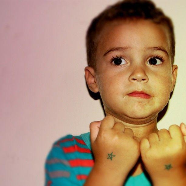 Pepeu tatuado :) - sobrinho gangueira @victor__87- #webstagram