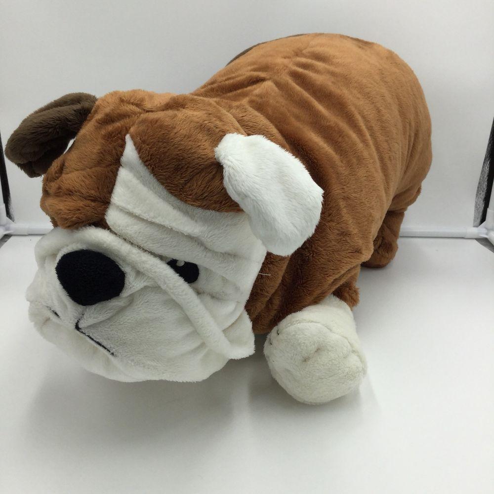 Ikea Gosig Klumpig Bulldog Brown White Puppy Dog English Stuffed