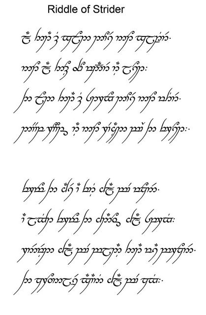 Riddle Of Strider The Hobbit Tolkien Lord Of The Rings
