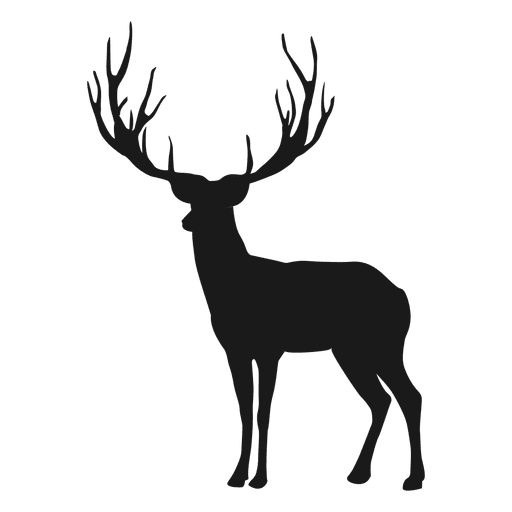 Reindeer Silhouette Ad Ad Spon Silhouette Reindeer Reindeer Silhouette Animal Icon Deer Stencil