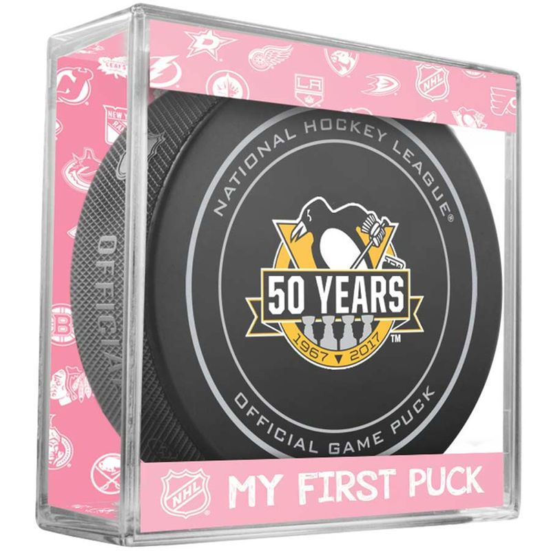 Pittsburgh Penguins Sher-Wood Anniversary New Baby Puck Cube - Pink