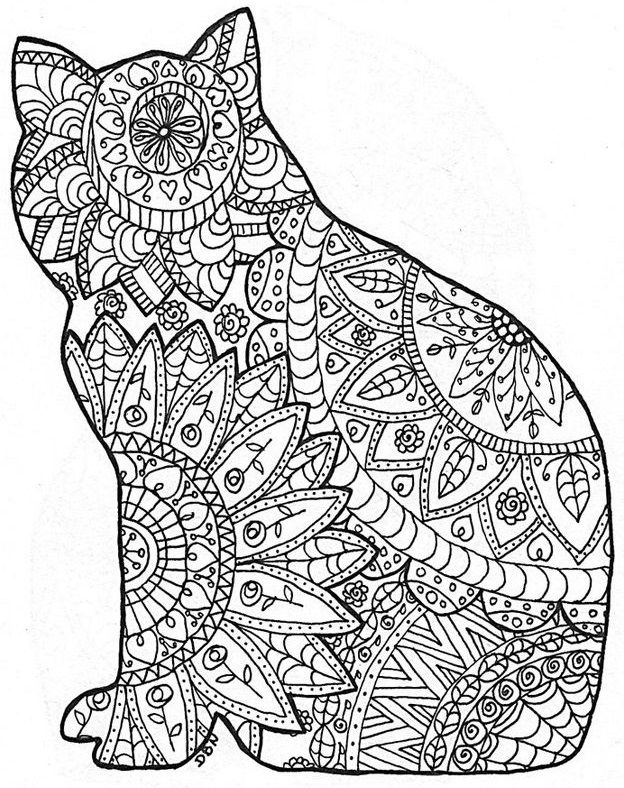 Ажурные трафареты котов | Paper Art | Pinterest | Páginas para ...