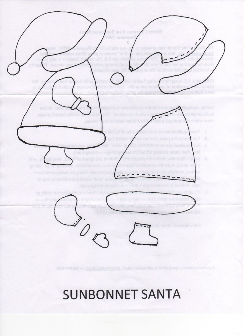 Sunbonnet Santa Pattern from Blackberry Creek Home Arts