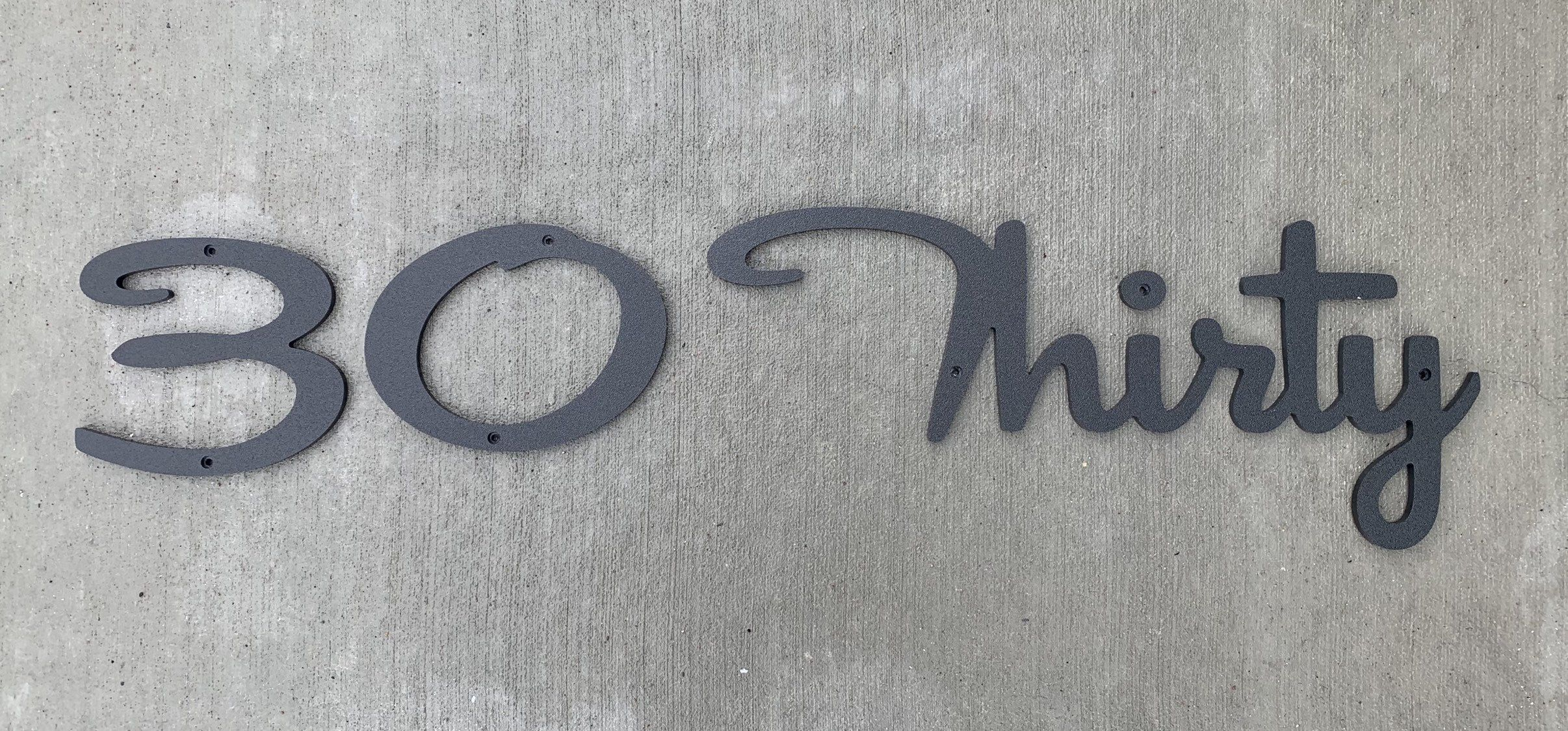 Large Mid Century Script Cursive House Numbers Etsy in