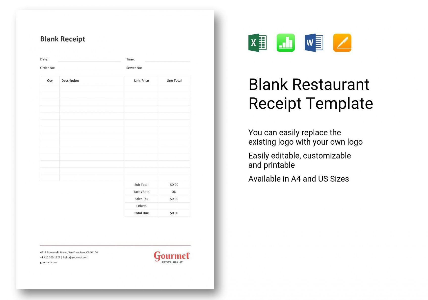 Browse Our Image Of Tip Receipt Template Receipt Template Templates How To Introduce Yourself