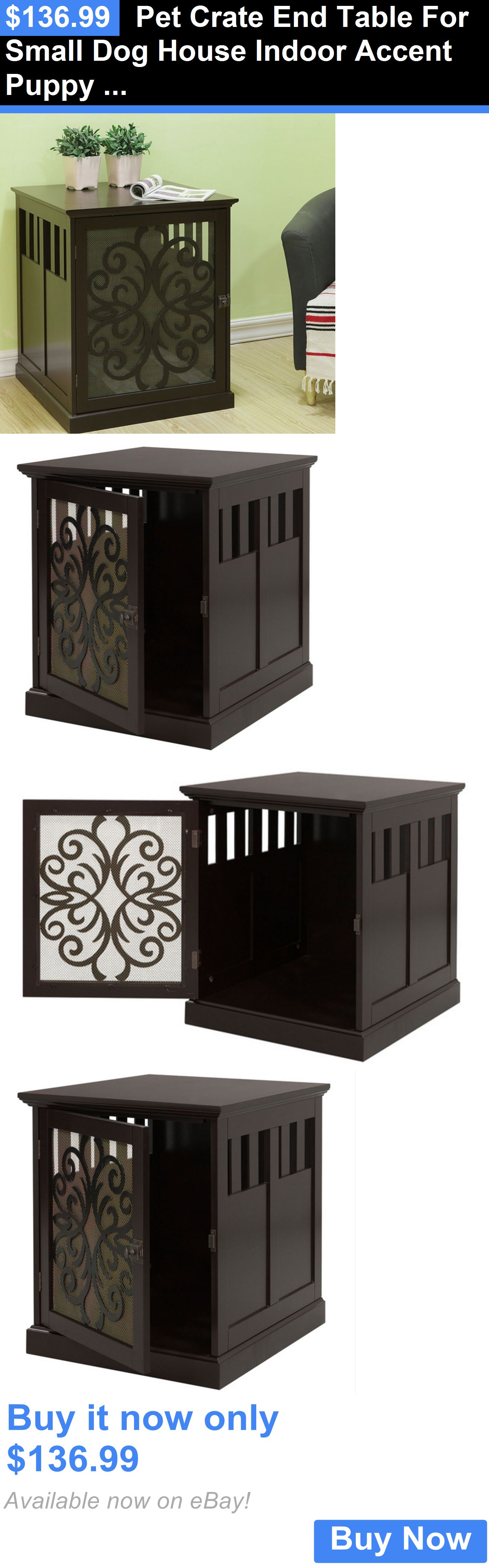 Animals Dog: Pet Crate End Table For Small Dog House Indoor Accent Puppy  Furniture Kennel