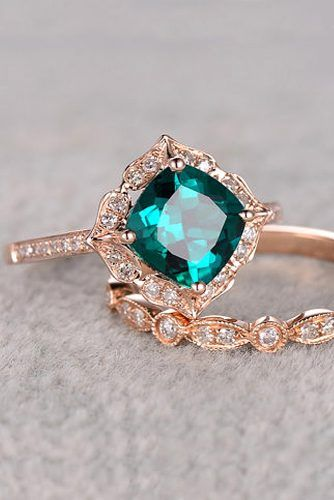54 Budget Friendly Engagement Rings Under 1000 Wedding Forward Emerald Engagement Ring Set Emerald Engagement Ring Emerald Wedding Rings