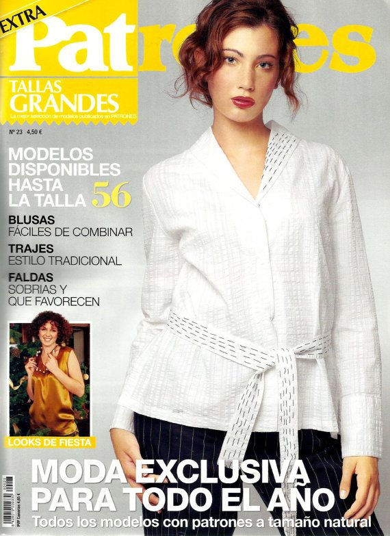 Back issue of PATRONES magazine 23 special plus sizes | Pinterest ...