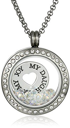 Mum Locket Necklace Made With Crystals from Swarovski and a Floating Charm 18