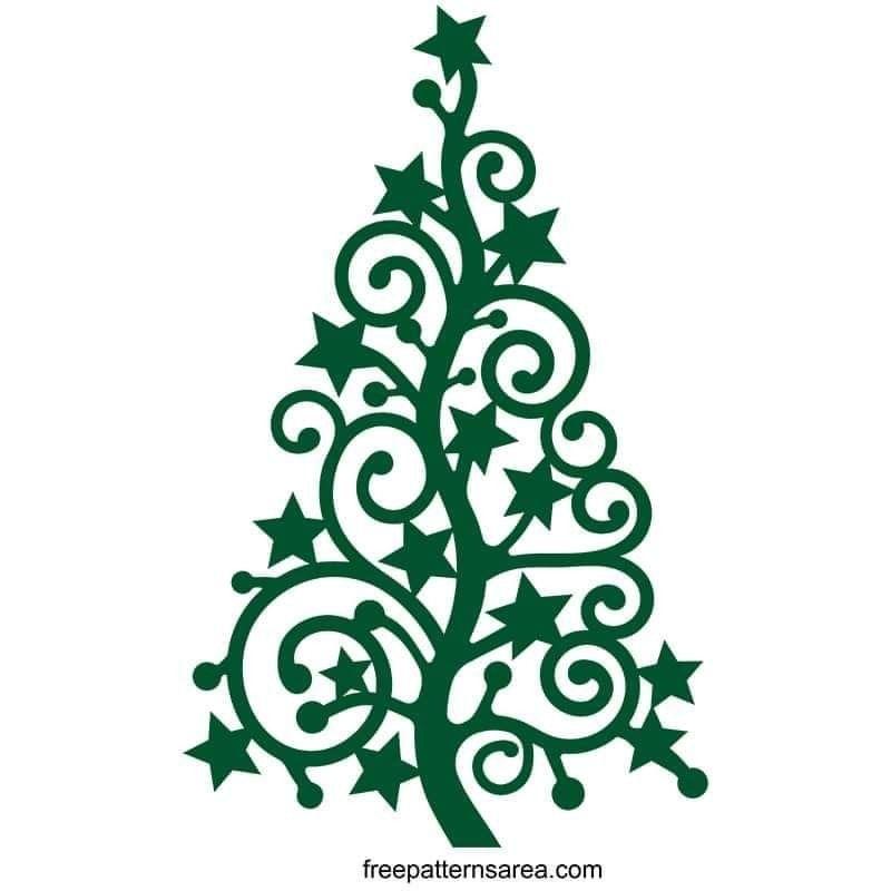 Download Pin by Effie Ramirez on cricut | Christmas tree stencil ...