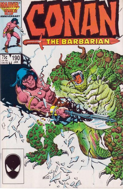 Cover for Conan the Barbarian (Marvel, 1970 series) #190 [Direct Edition]