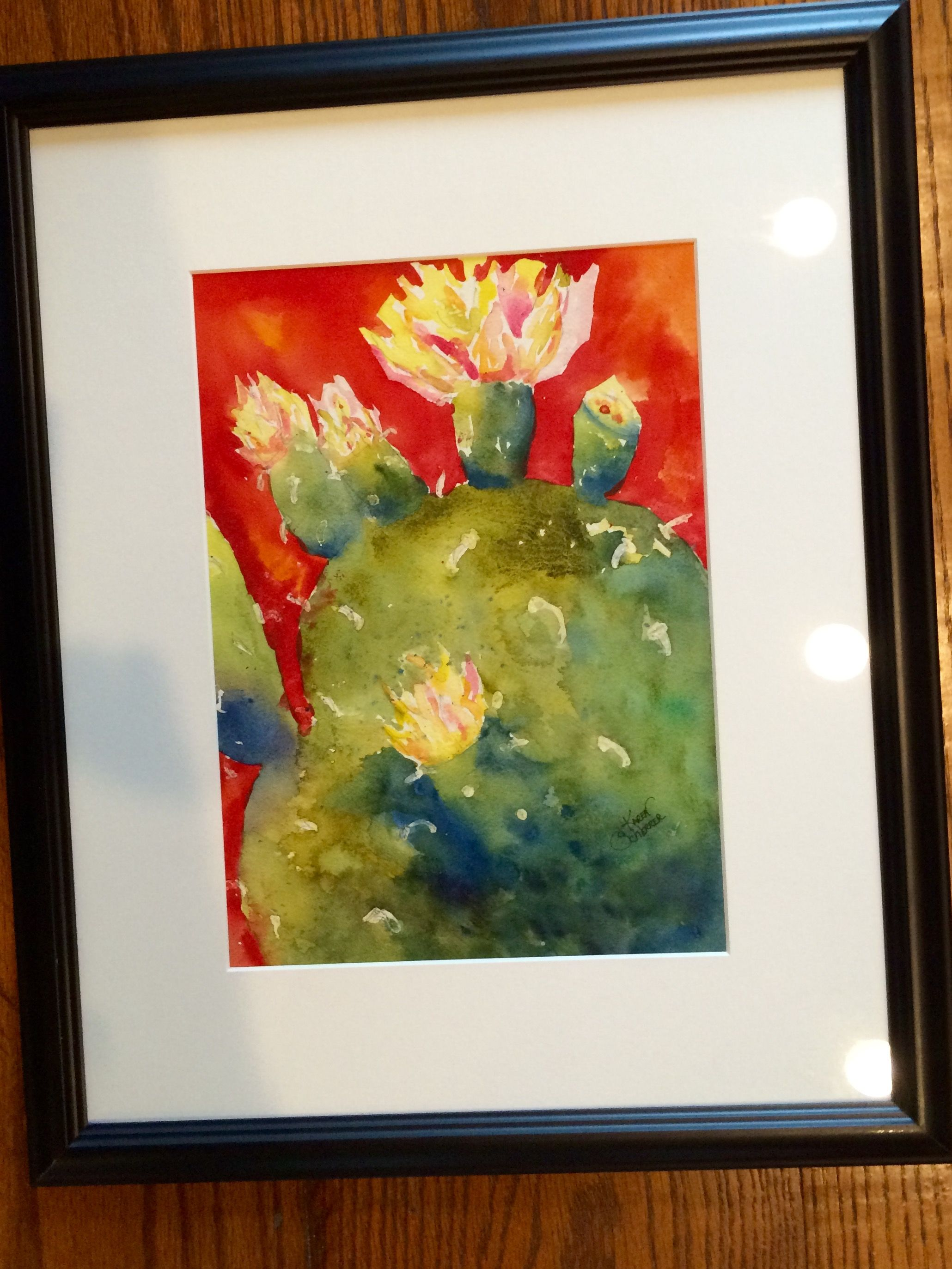 Watercolor artist in texas -  Paddles Blossoms By Texas Watercolor Artist Karen Scherrer