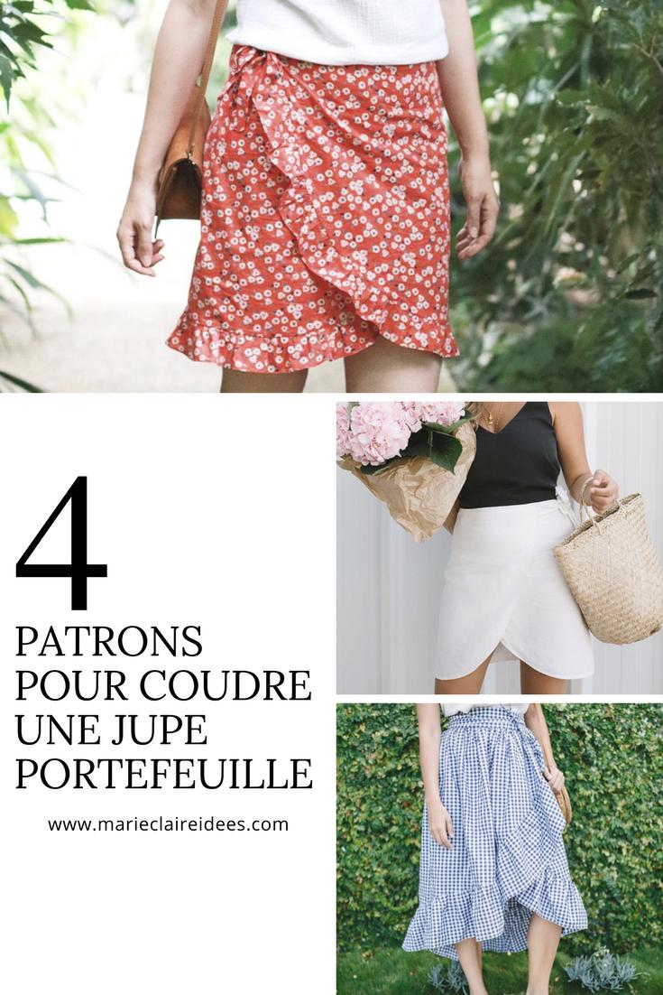 ede21da5fd6abc 5 patrons pour coudre une jupe portefeuille | COUTURE / SEWING ...