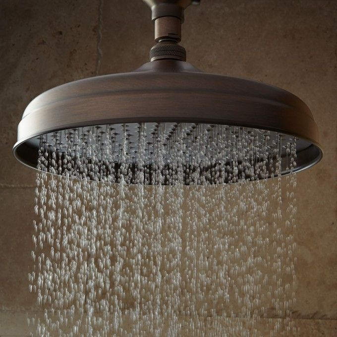 Lambert Wall Mount Rainfall Shower Head With Ornate Extended