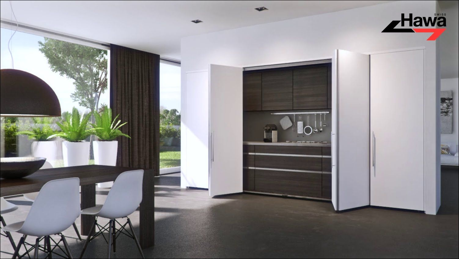 Flush When Closed Completely Open Hardware Systems For Pivot Sliding Cabinet Doors Weighing Up To 25 30 40 And 50 Kg Home Sliding Cabinet Doors Home Decor