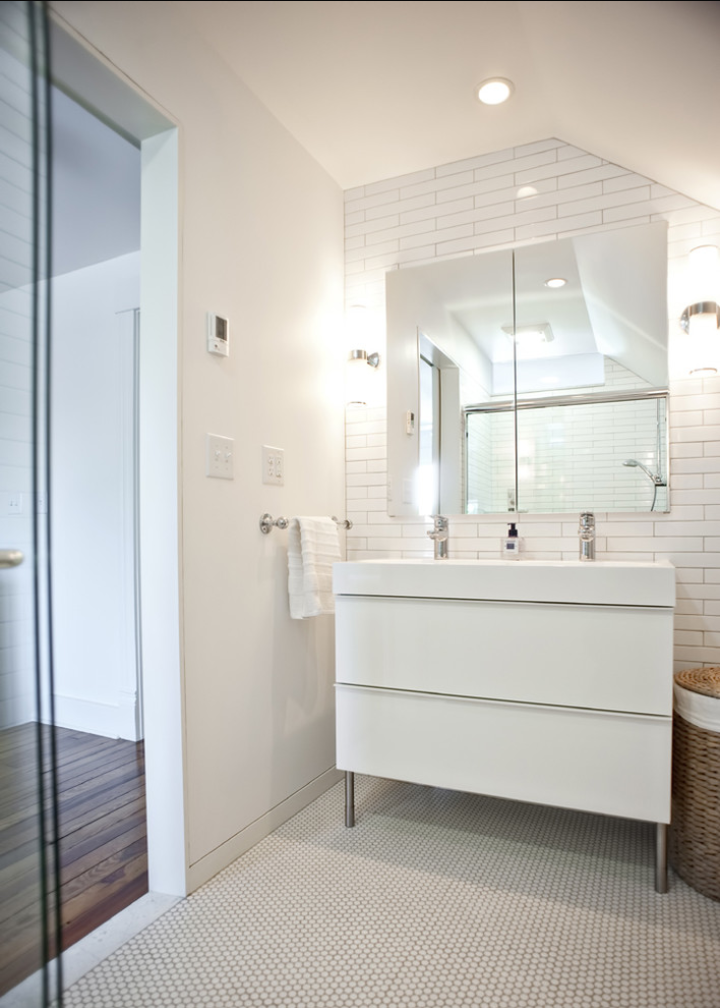 Rock paper hammer architects designers modern bathroom - Vanities for small bathrooms ikea ...