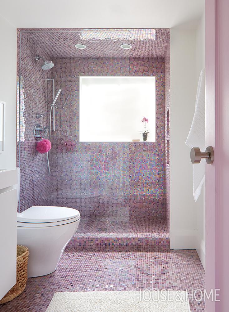 A Modern Colorful Oasis For Two Girls Girl Bathrooms Bathroom Decor Design