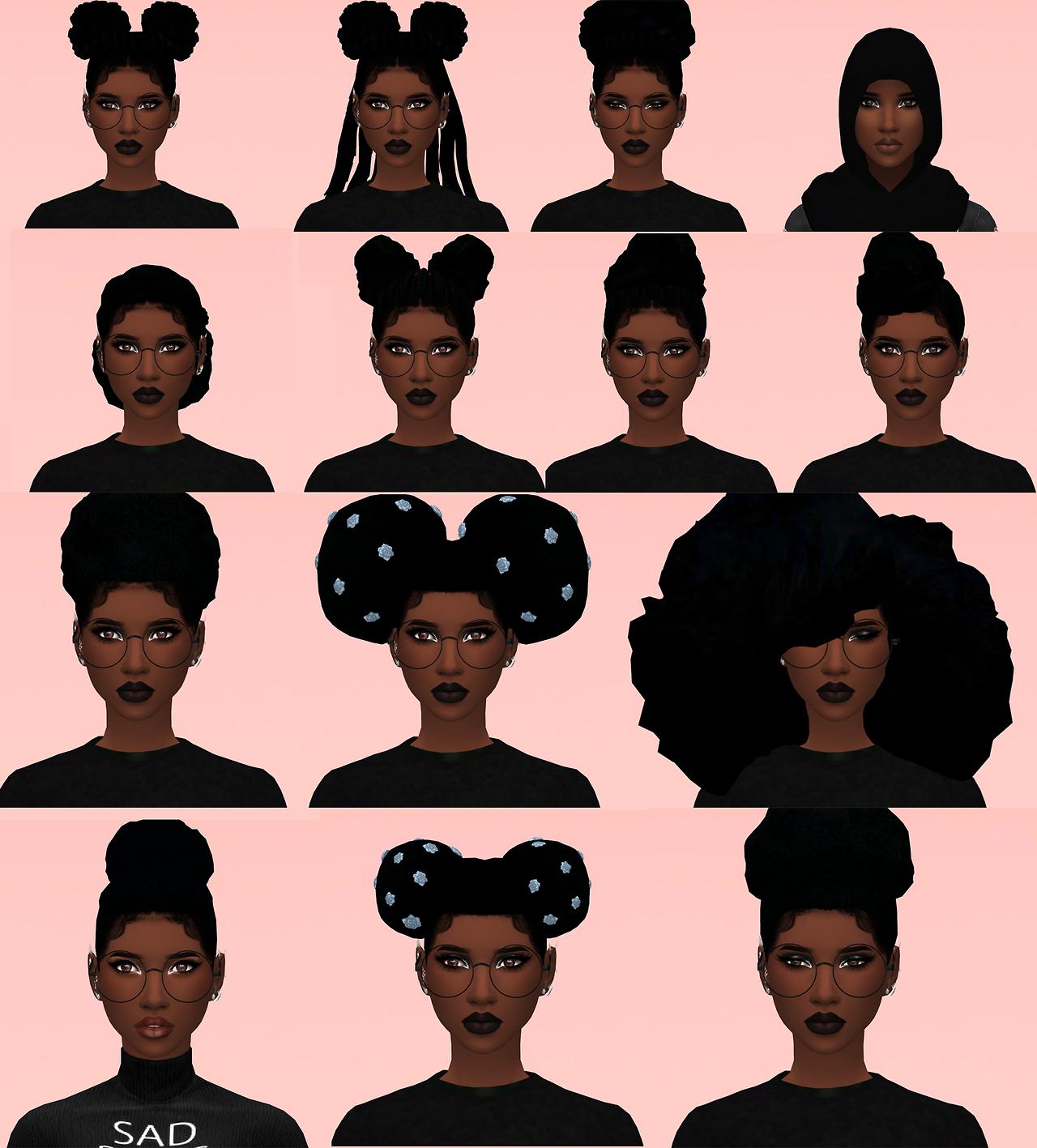 Sims 4 Black Hair Sims Hair Sims