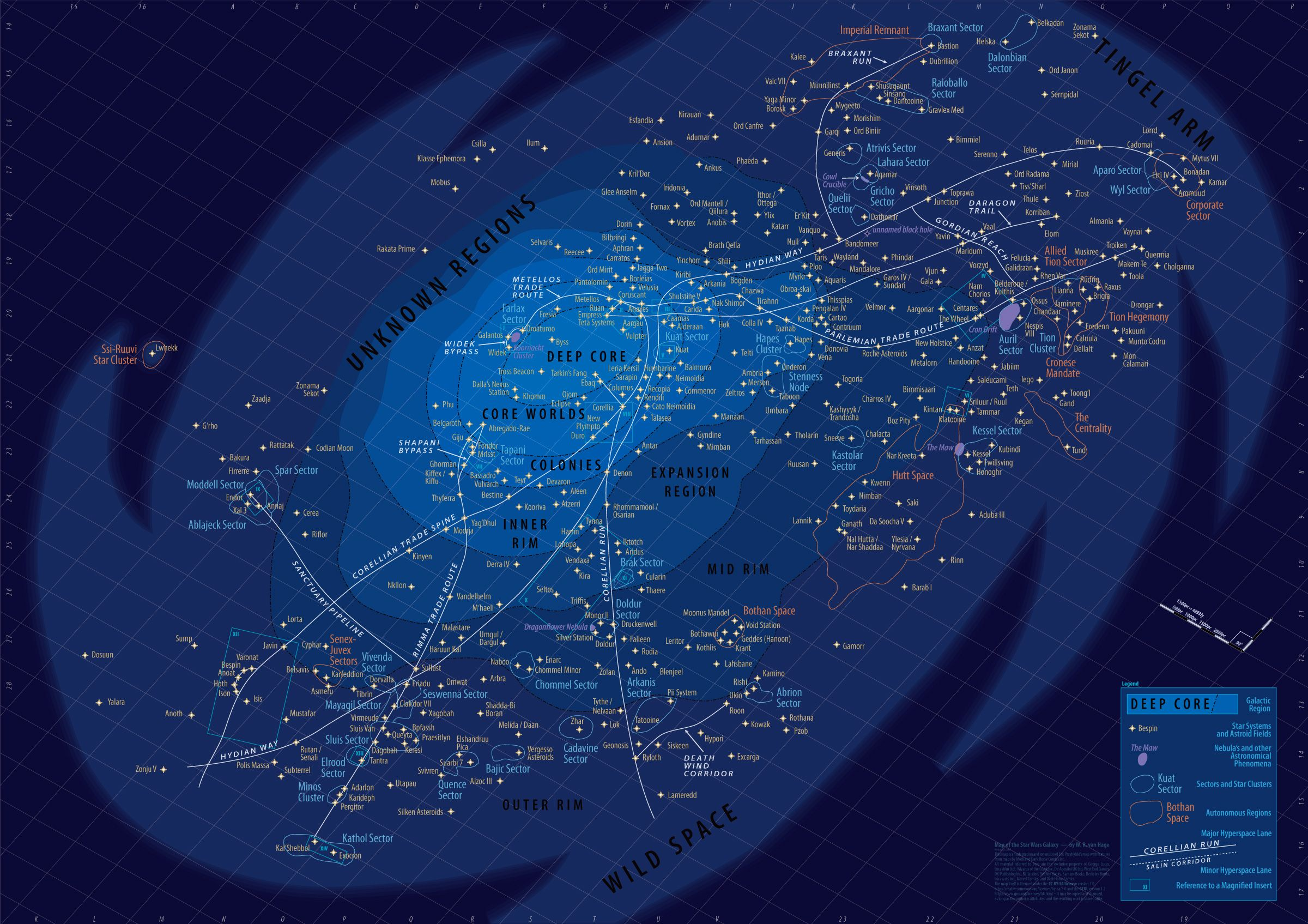 Star Wars Universe Map O.M.G! Insane map of the Star Wars universe! #starwars
