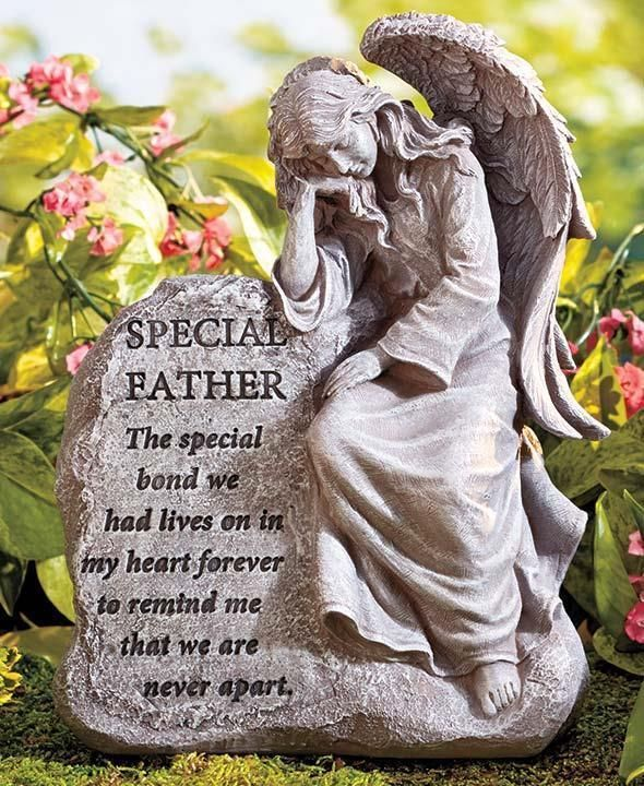 1 Of 1: Special Father Angel Memorial Garden Statue Stone Grave Outdoor  Home Decor
