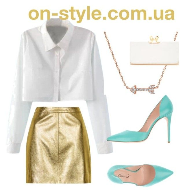 """gold "" by on-style on Polyvore featuring мода, WithChic, Topshop, Anna F. и Ted Baker"