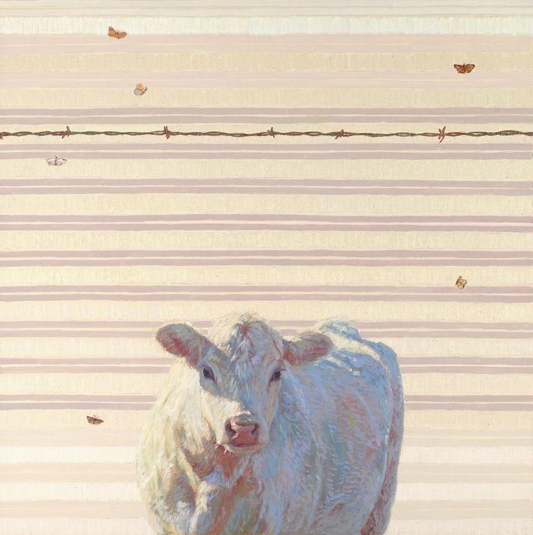 "Saatchi Online Artist: Nancy Bass; Oil, 2012, Painting ""Angel with Moths"""