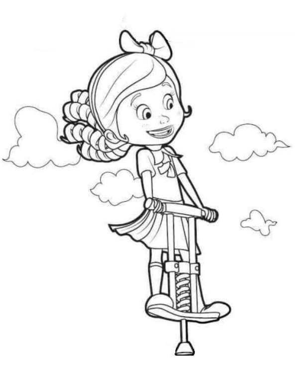 Coloring Page Goldie And Bear