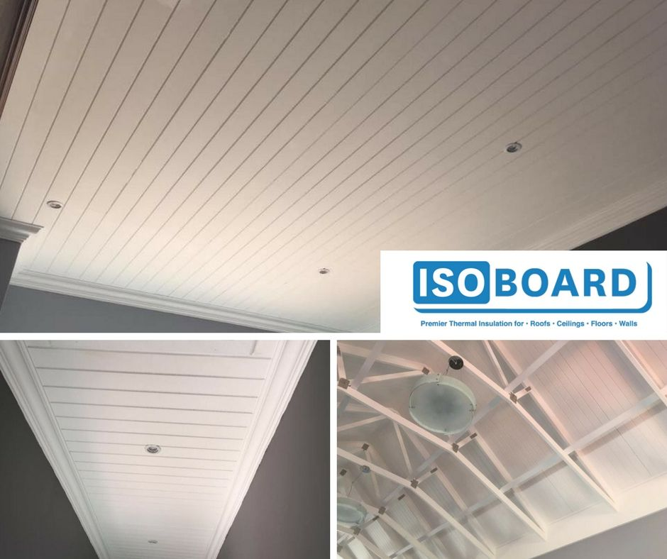Isoboard Installation Tongue Groove Exposed Ceiling Ceiling Installation Roof Panels Ceiling