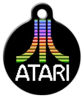 Atari By Dog Tag Art Classic Video Games Retro Gaming Video Game Logos