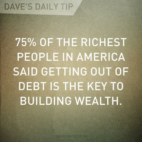Getting Rid Of Debt Is The Key To Building Wealth Budgeting Money Money Quotes Money Makeover