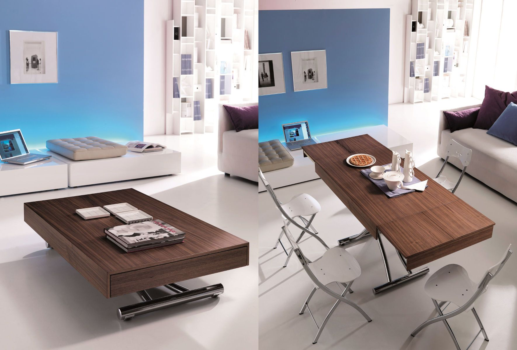 table basse relevable extensible wood table basse relevable meubles et atmosph re home. Black Bedroom Furniture Sets. Home Design Ideas