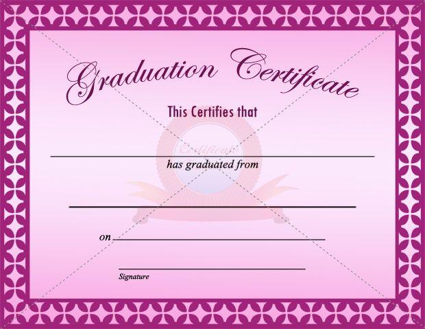 Graduation Certificate Template | Graduation Certificate Templates