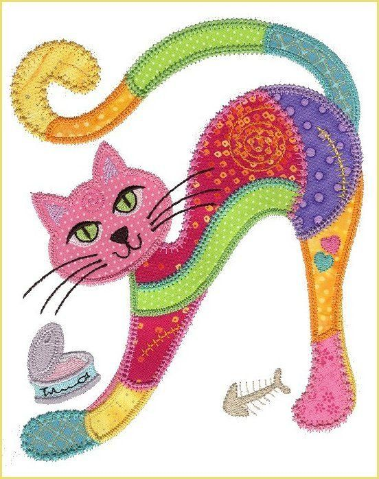 Macskas Embroidery Quilts Cat Applique Embroidery Designs