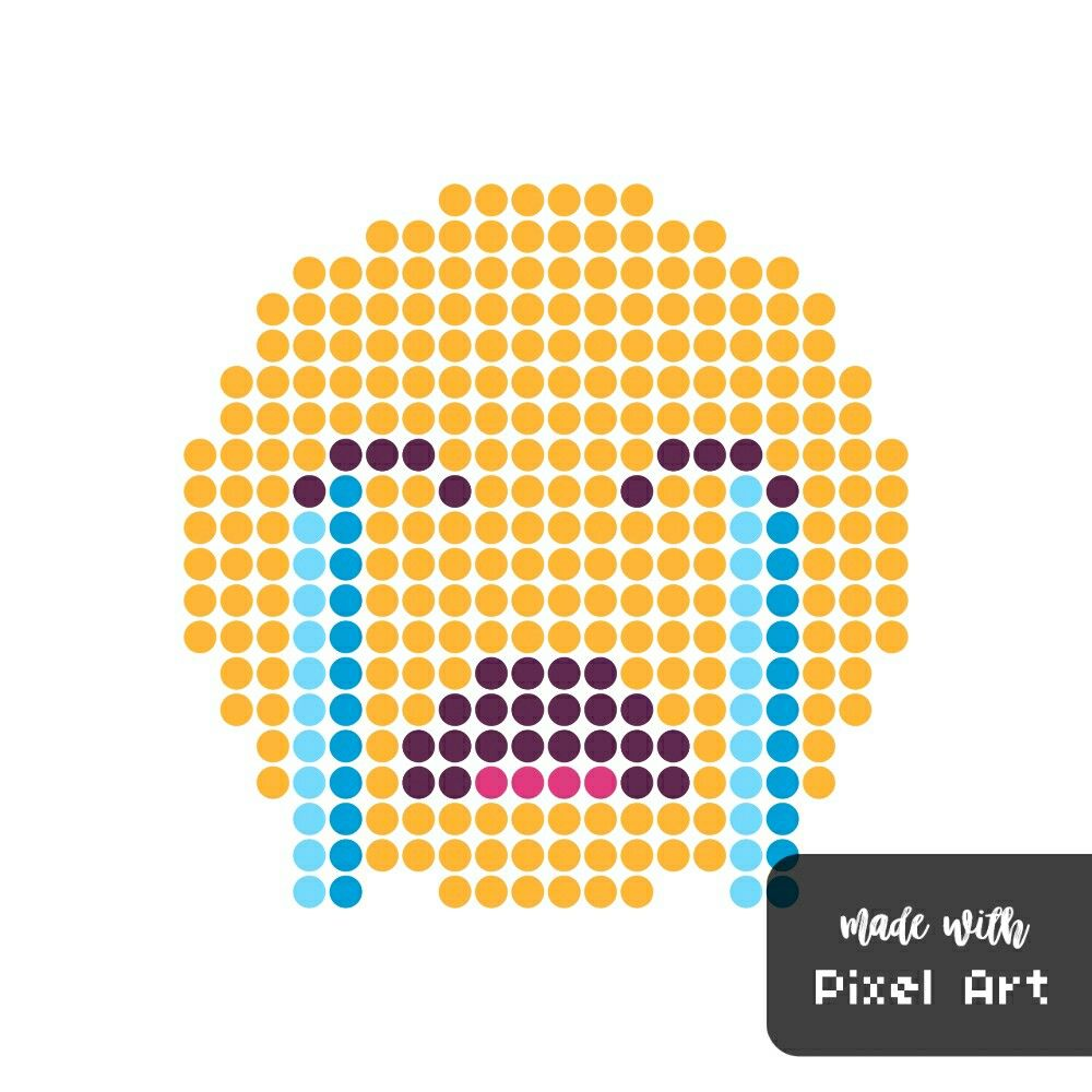 Smiley Qui Pleure En Pixel Art Réalisé Avec L