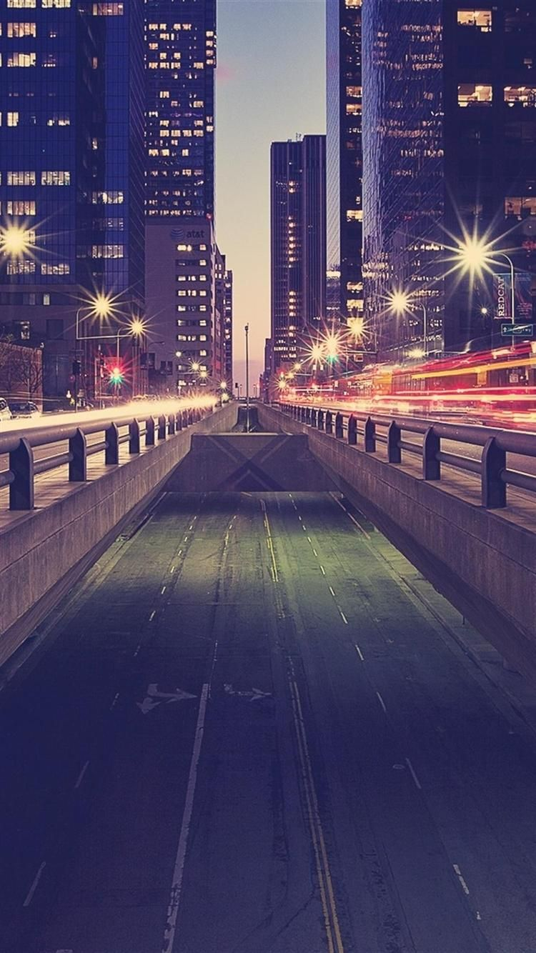 Road Traffic Night City Lights IPhone 6 Wallpapers HD