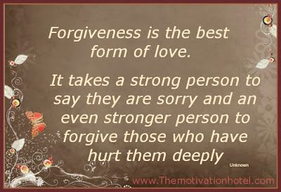 Forgiveness Is The Best Love