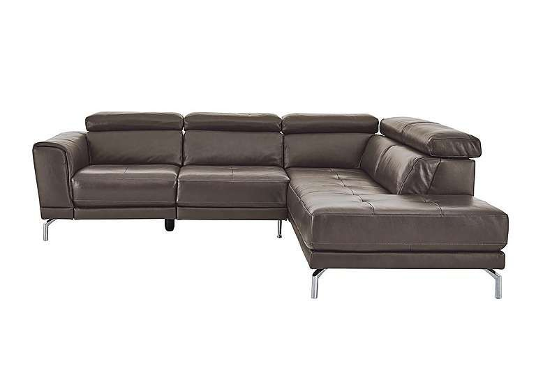 Natuzzi Editions Calabria Leather Power Recliner Corner Chaise