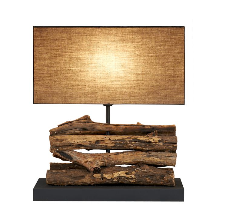 Natural Wooden Vine Figuvine Table Lamp