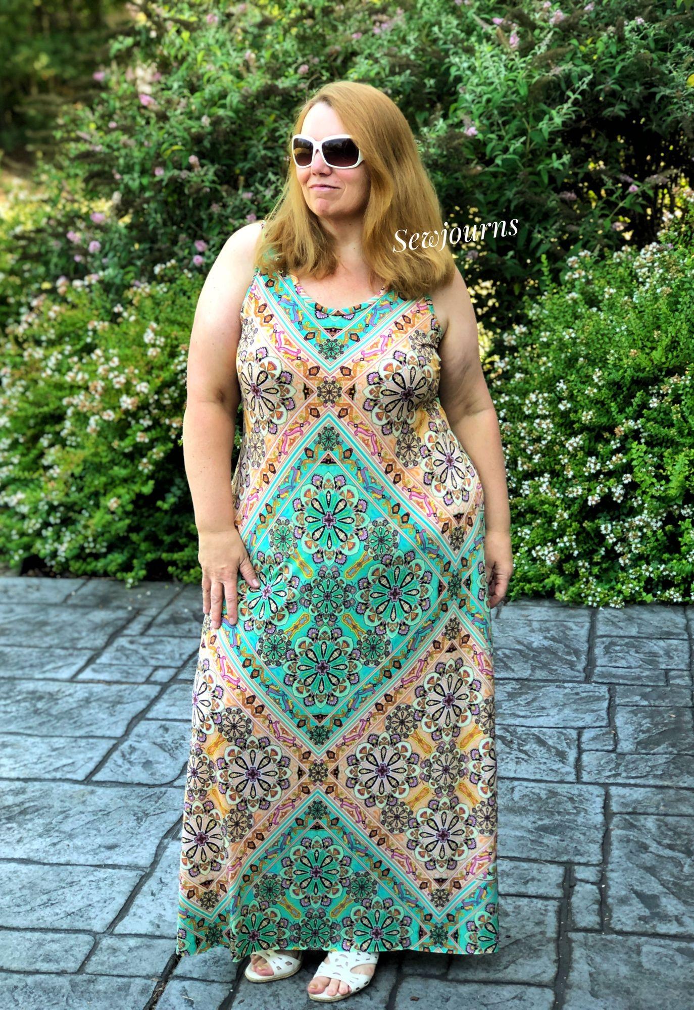Sara Everyday Tank And Dress Pdf Sewing Pattern Dresses Everyday Dresses Maxi Dress Pattern [ 2000 x 1374 Pixel ]