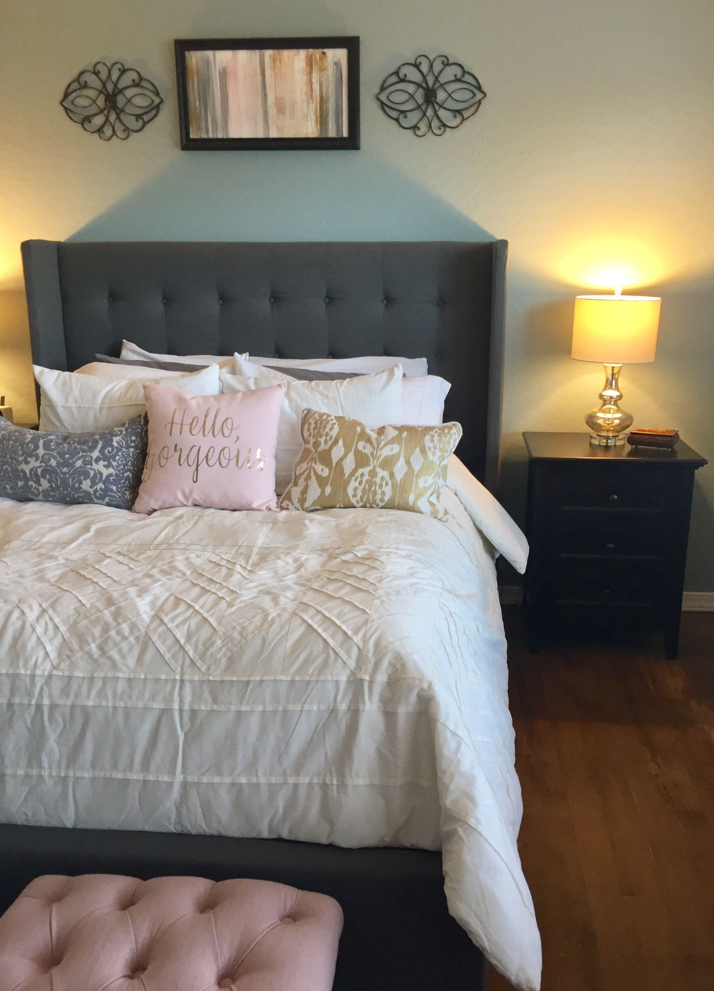 Bedroom Ideas Gray, Pink And Gold #Teengirlbedroomideasgrey