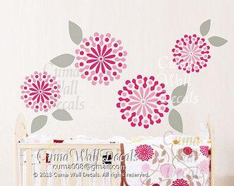 Flower Wall Decals JJ Cole Sweet Primrose Wall Sticker Nursery Wall Mural  Children  Girl Flower