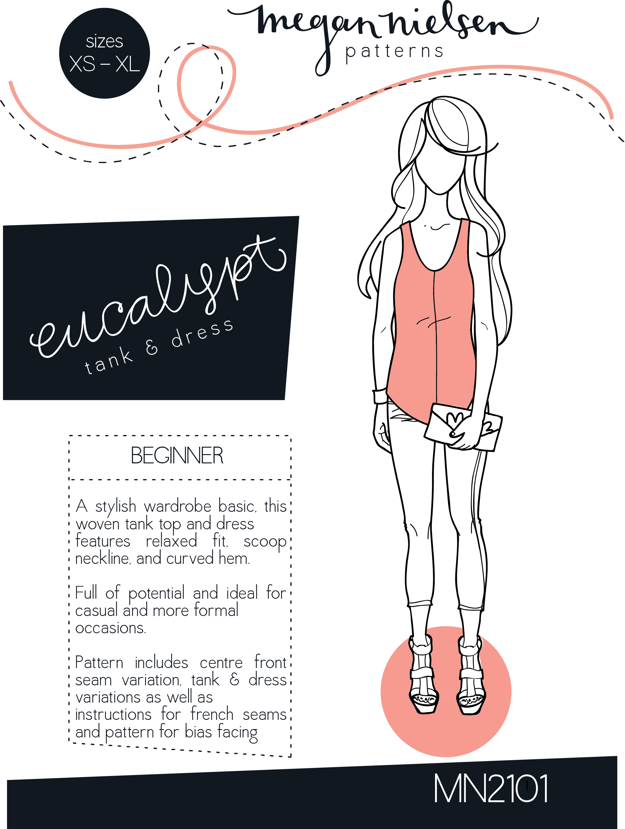 Eucalypt woven tank top & dress sewing pattern