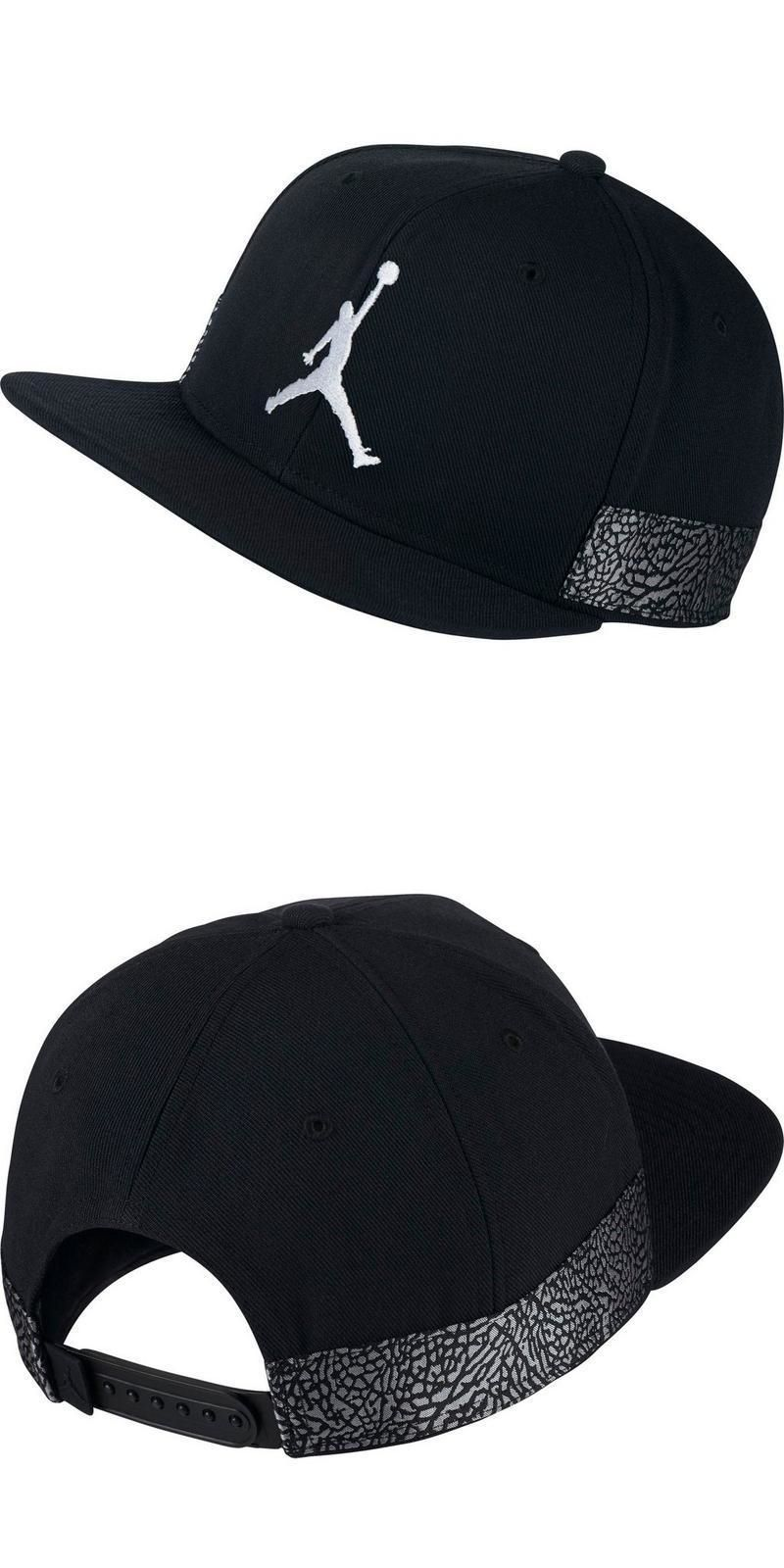 low priced d2b34 6192d Hats 163543  Air Jordan Jumpman Pro Aj3 Black Snapback Hat Flat Bill Retro  Cap New -  BUY IT NOW ONLY   24.49 on  eBay  jordan  jumpman  black   snapback   ...