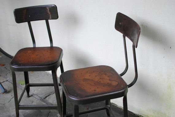 Prime 2 Vintage Lyon Industrial Stools Or Chairs 18 Tall For Frankydiablos Diy Chair Ideas Frankydiabloscom