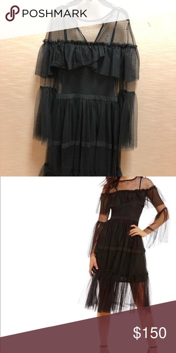 Gianni Bini Black Tae Mesh Midi Dress Xl Nwt My Posh Picks